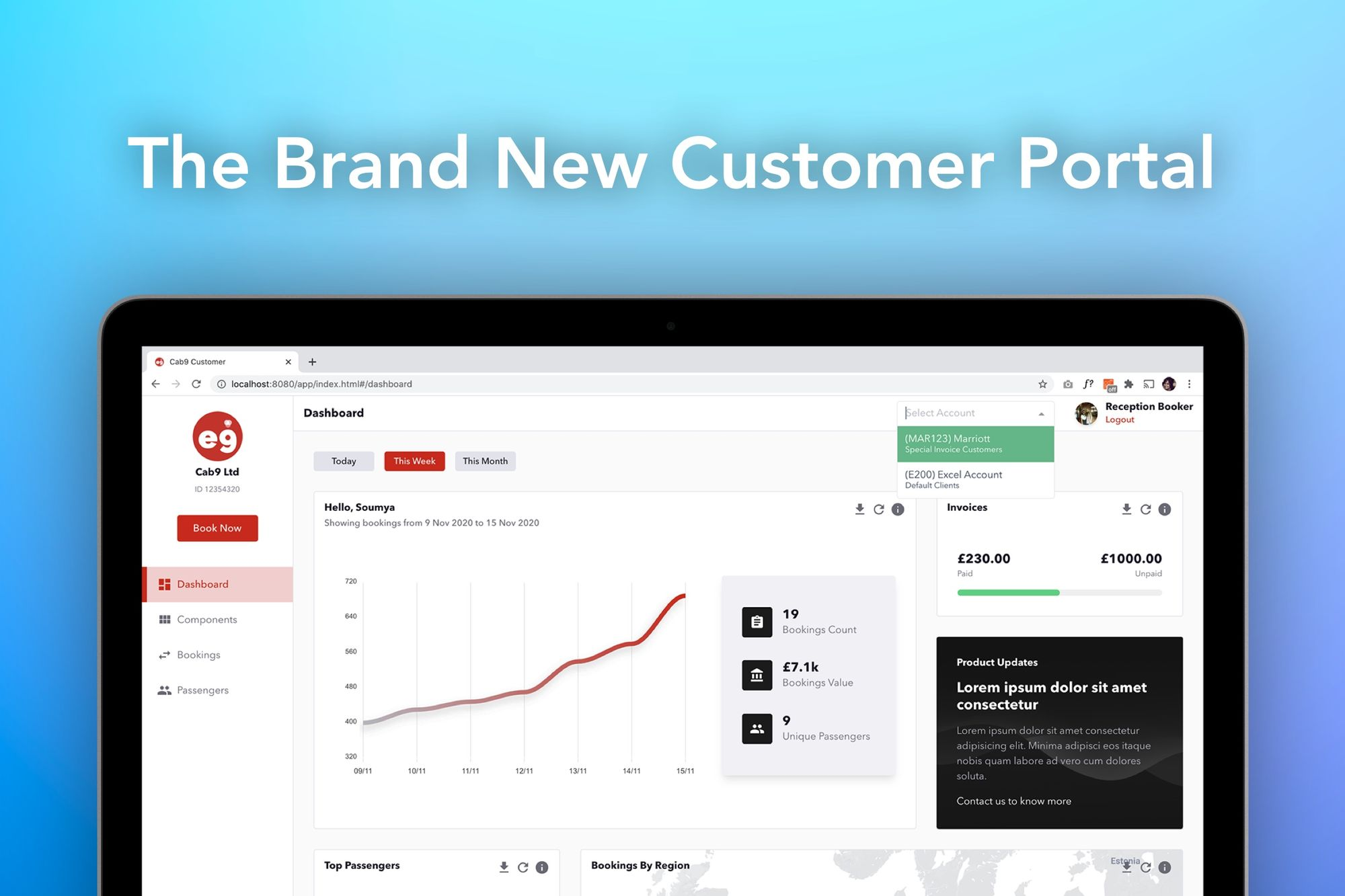 Cab9 - New Customer Portal